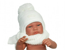 Baby hat with a scarf (CZ + S 007A)