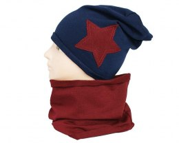 Children's cotton hat with a fireplace w-84A