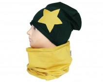 Children's cotton hat with a fireplace w-84E