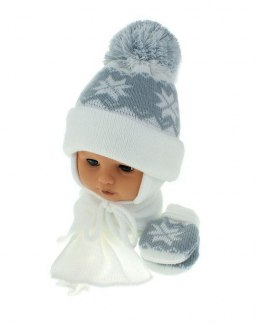 Baby hat with scarf and gloves (CZ + S + R 014A)