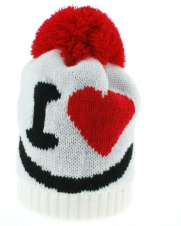Cap with tassel, a gift on Valentine's day, heart