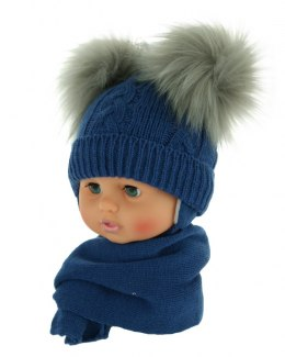 Baby hat with a scarf (CZ + S 016A)