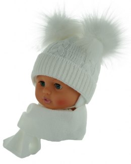 Baby hat with a scarf (CZ + S 016B)