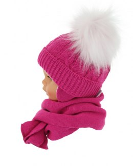 Baby hat with a scarf (CZ + S 016F)