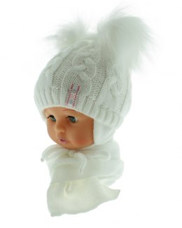 Baby hat with a scarf PART + S 049A