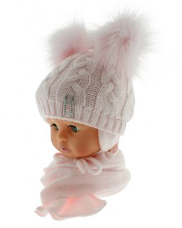 Baby hat with a scarf PART + S 049B