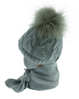 Baby hat with a scarf PART + S 049D