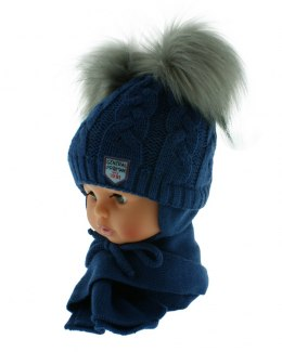 Baby hat with a scarf PART + S 049F