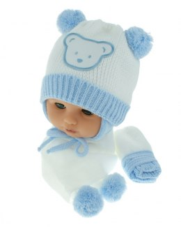 Baby hat with scarf and gloves (CZ + S + R 124A)