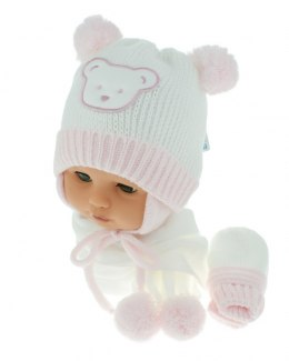 Baby hat with scarf and gloves (CZ + S + R 124B)
